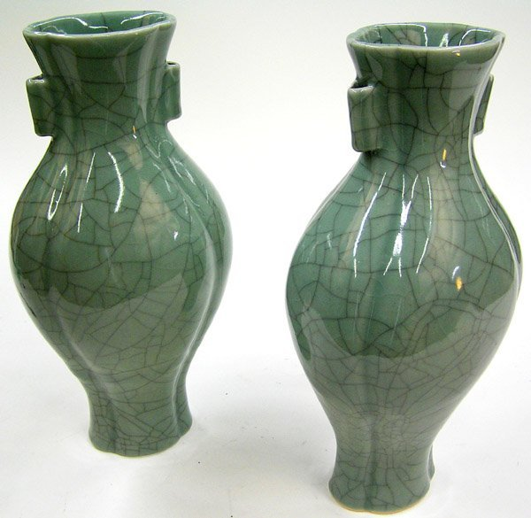 2023: Korean celadon crackled-glaze vases