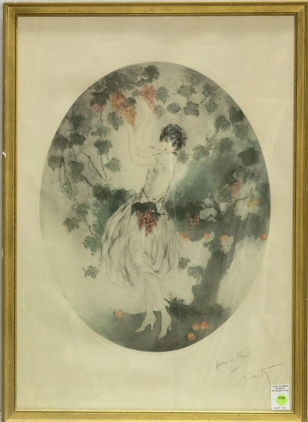 2388: Louis Icart Miss California etching
