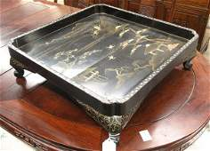 2495: Japanese Large Footed Lacquer Tray