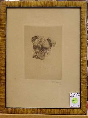Sepia etching, Shar-pei