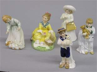 Five Royal Doulton Figurines of Children
