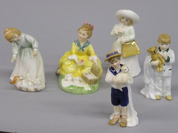 6004: Five Royal Doulton Figurines of Children