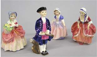 Four Royal Doulton Figurines of 18th C. youth