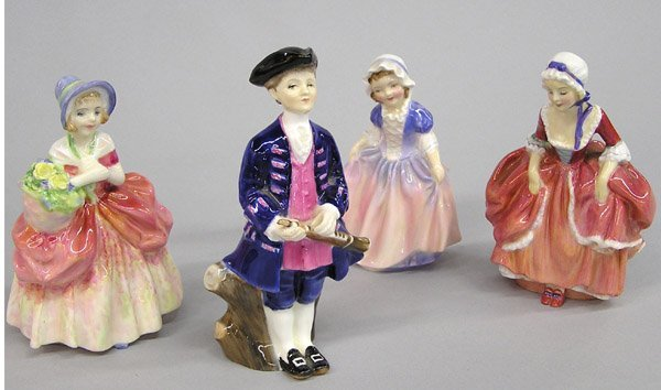 6006: Four Royal Doulton Figurines of 18th C. youth