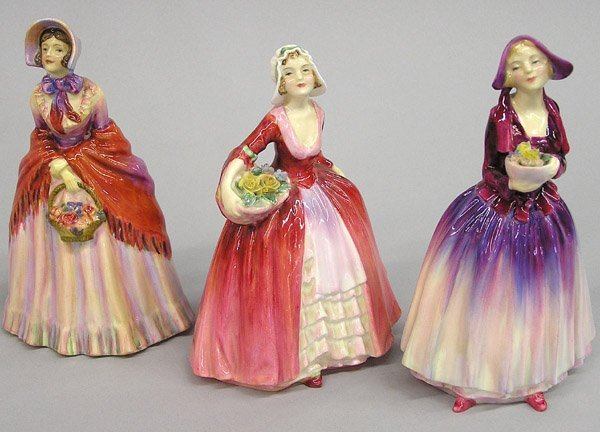 6008: Three Royal Doulton Figurines of Beauties