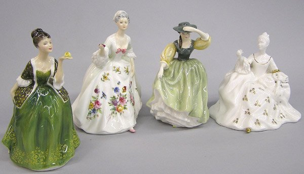6012: Four Royal Doulton Figurines of Beauties