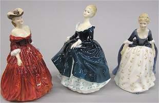Three Royal Doulton Figurines of Beauties
