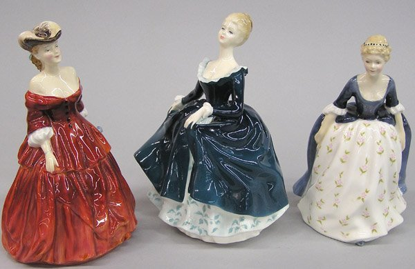 6013: Three Royal Doulton Figurines of Beauties