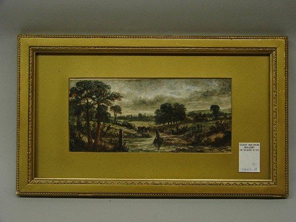 6022: 2 watercolors, Pastoral Scenes, 1800's