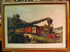 6426 Lithograph Currier  Ives Express Train