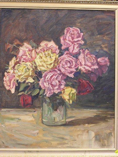4000: Att. Rudolf Braband, still life, roses