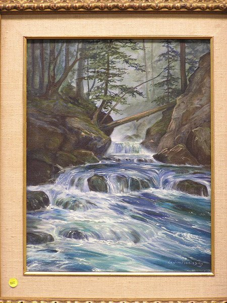 4007: Lydia Vercinsky, Stream, oil on canvas