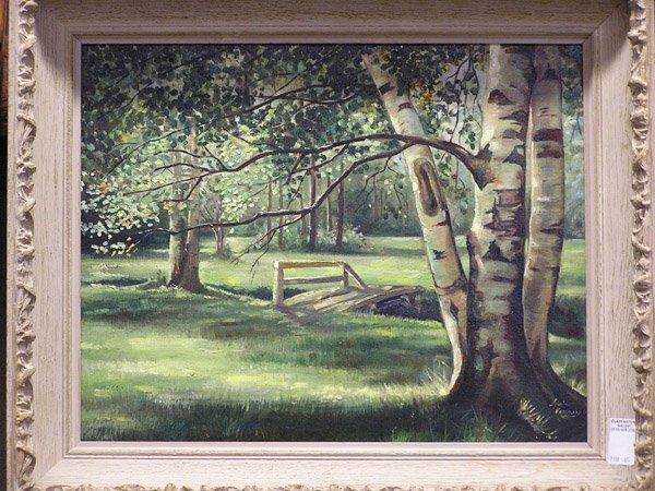 4013: Lydia Vercinsky, Birches, o/masonite