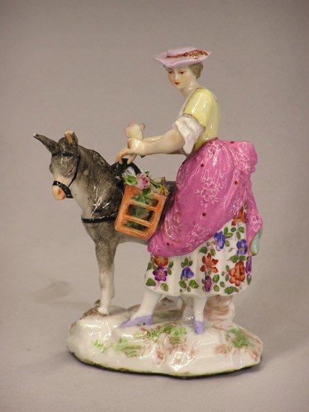 4018: Meissen style figure, Italian maid