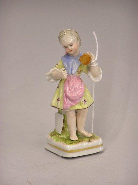 4022: 19th century German porcelain angel