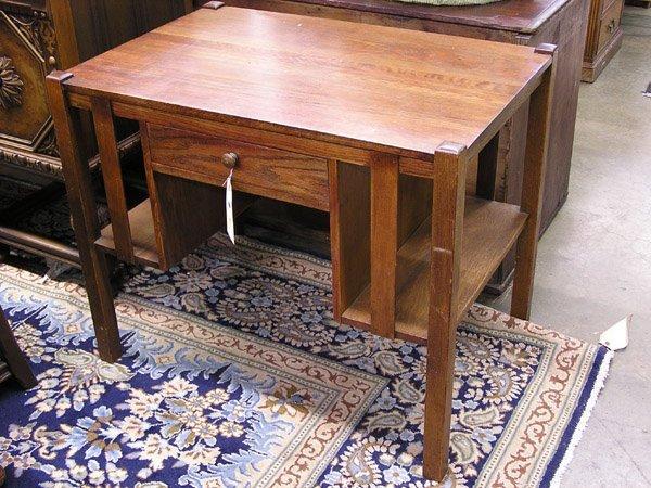 4115: Arts & Crafts oak desk