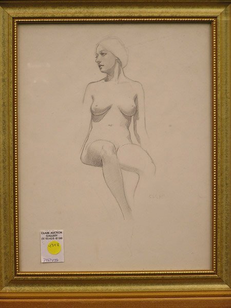 4348: Jean Harlow, pastel, seated nude