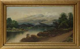 Painting, Landscape with Mountains