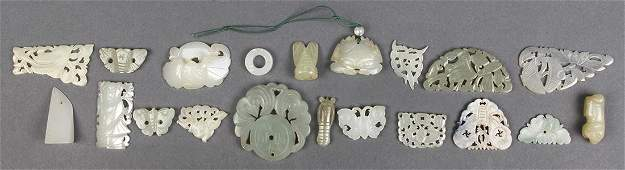 Group of Chinese Jade/Hardstone Plaques/Toggles
