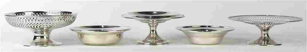 American sterling silver compotes, consisting of three