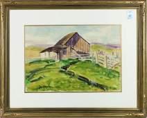 Watercolor, Justin Faivre, Barn