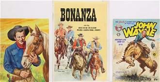 Comic Illustrations, Walt Howarth, John Wayne, Bonanza
