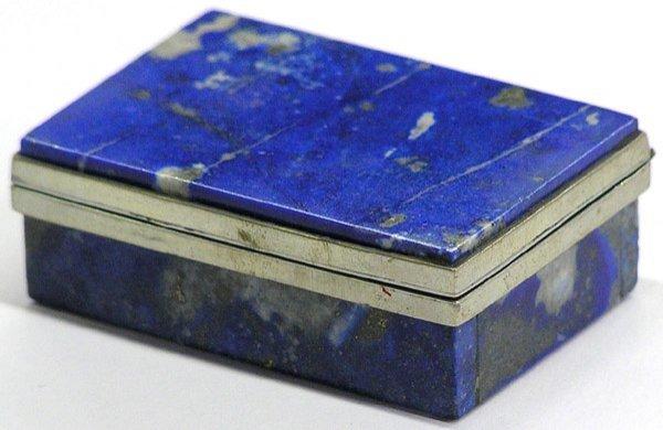 4000: Small Lapis Lazuli Box, Silver Rims