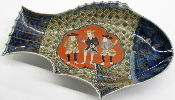 4008: Japanese-Style Imari Fish Plate, 20th C