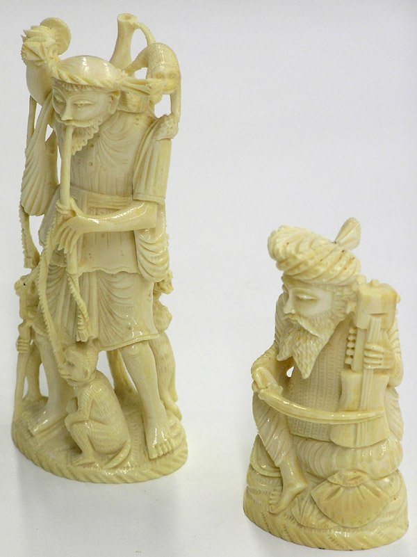 4018: East Indian Elephant Ivory Figures