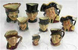 4121: Royal Doulton character mugs Toby