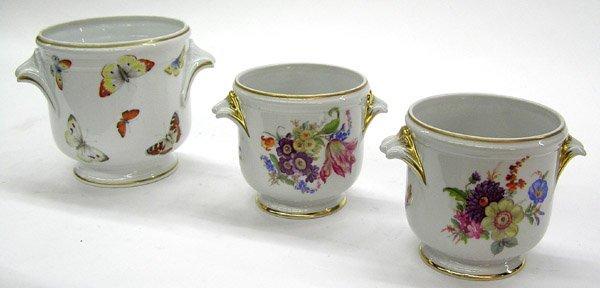 6014: French Limoges porcelain urns