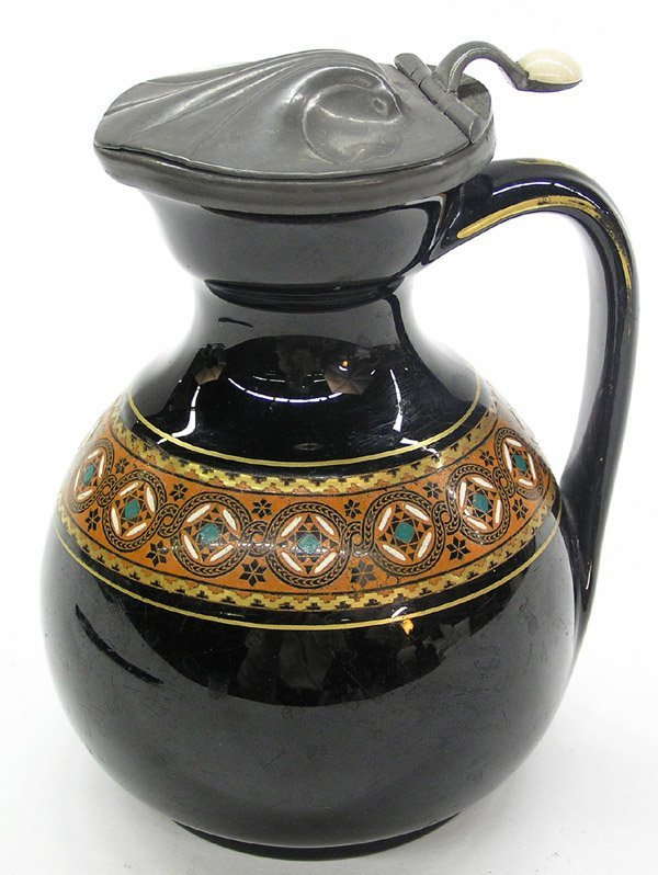6016: Thompson Broadhead pottery pitcher
