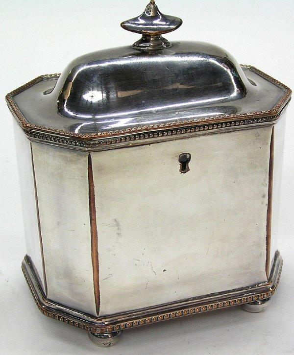 6019: Sheffield plate tea caddy