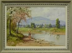 6143 Painting Laszlo Neogrady Hungarian