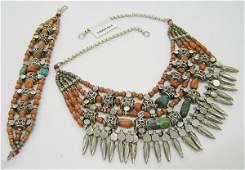 6691: East Indian Tribal Necklace/Bracelet
