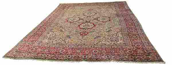 "Semi-Antique Persian Lavar Kerman carpet, 11'9"" x 8'7"""