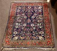 Semi antique Persian Kashan part silk carpet 35 x