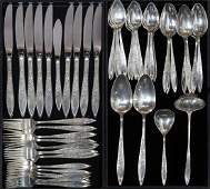 Gorham sterling silver flatware service for eight in