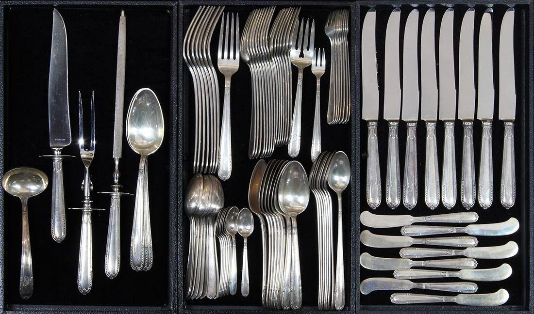 Alvin sterling silver flatware service for eight in the