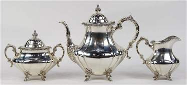 Reed and Barton sterling silver drinks service in the