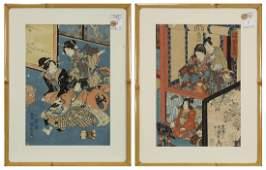 Japanese Woodblock Prints Toyokuni 19c