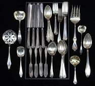 Assorted sterling silver flatware group