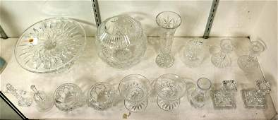 Waterford crystal group, including footed compotes,