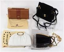 Handbag group including a Judith Leiber clutch with