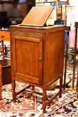 Late Victorian dictionary and music cabinet complete