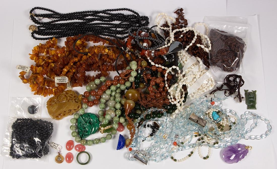 Collection of multi-stone, gold, silver and metal