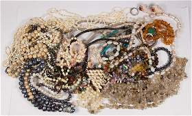 Collection of multi-stone, cultured pearl, silver and