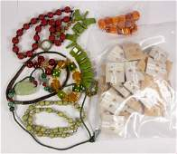 Collection of multi-stone, bakelite, gold-filled and
