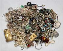 Collection of multistone bead and costume jewelry