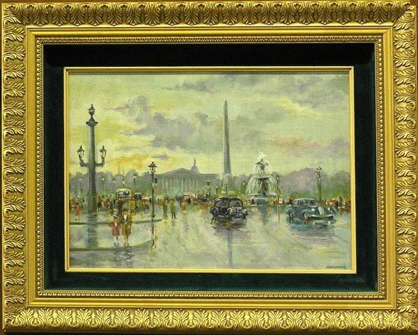 8: painting Paris Street Scene Manning